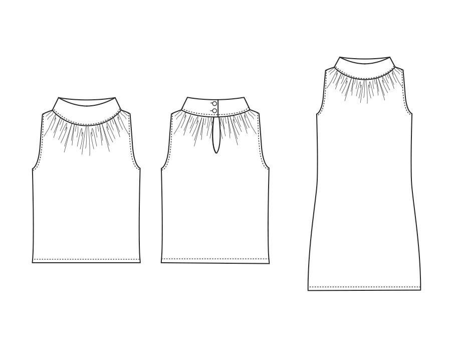 "S1010 Shirt/Robe ""Lisa"""