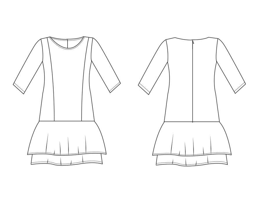 """P1001 Kleid """"Scarlet"""""""