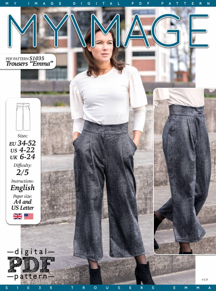 "S1035 Trousers ""Emma"""
