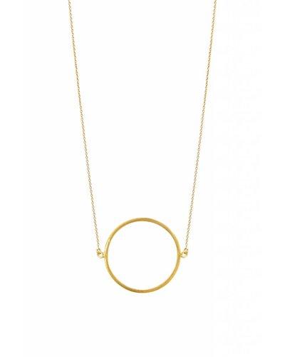 dutch basics circle necklace gold
