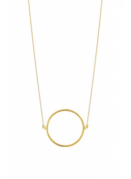 dutch basics circle necklace gold