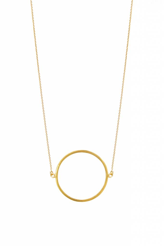 dutch basics circle ketting goud