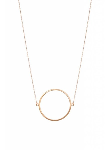 dutch basics circle ketting rose