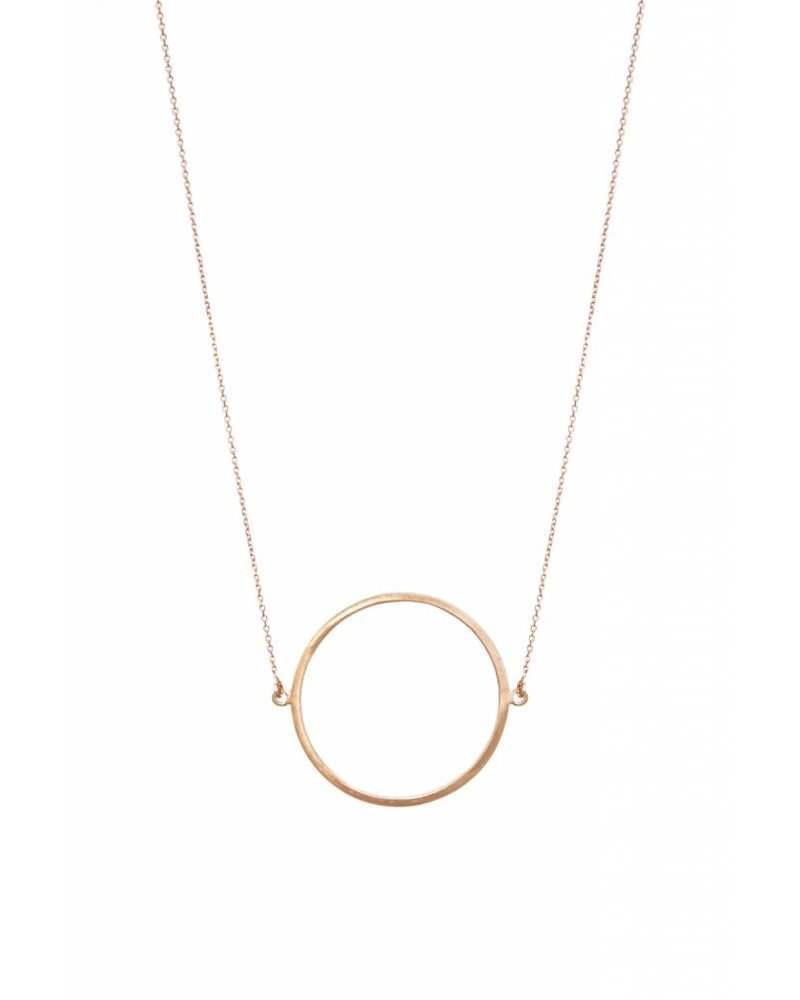 dutch basics circle necklace rose