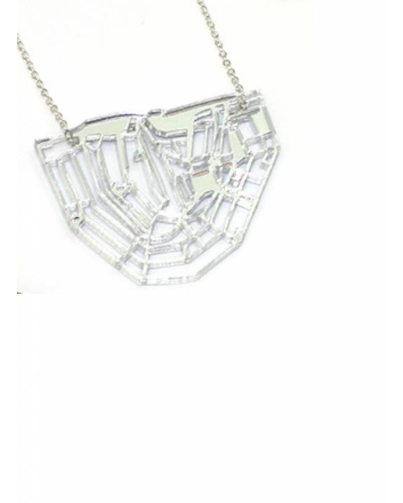 cre8 canal chain necklace silver