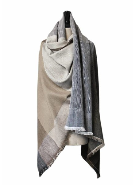 karigar neutral mix cape sjaal merino