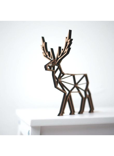 no gallery deer deco wood