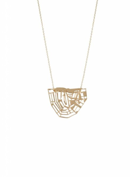 cre8 canal chain necklace gold