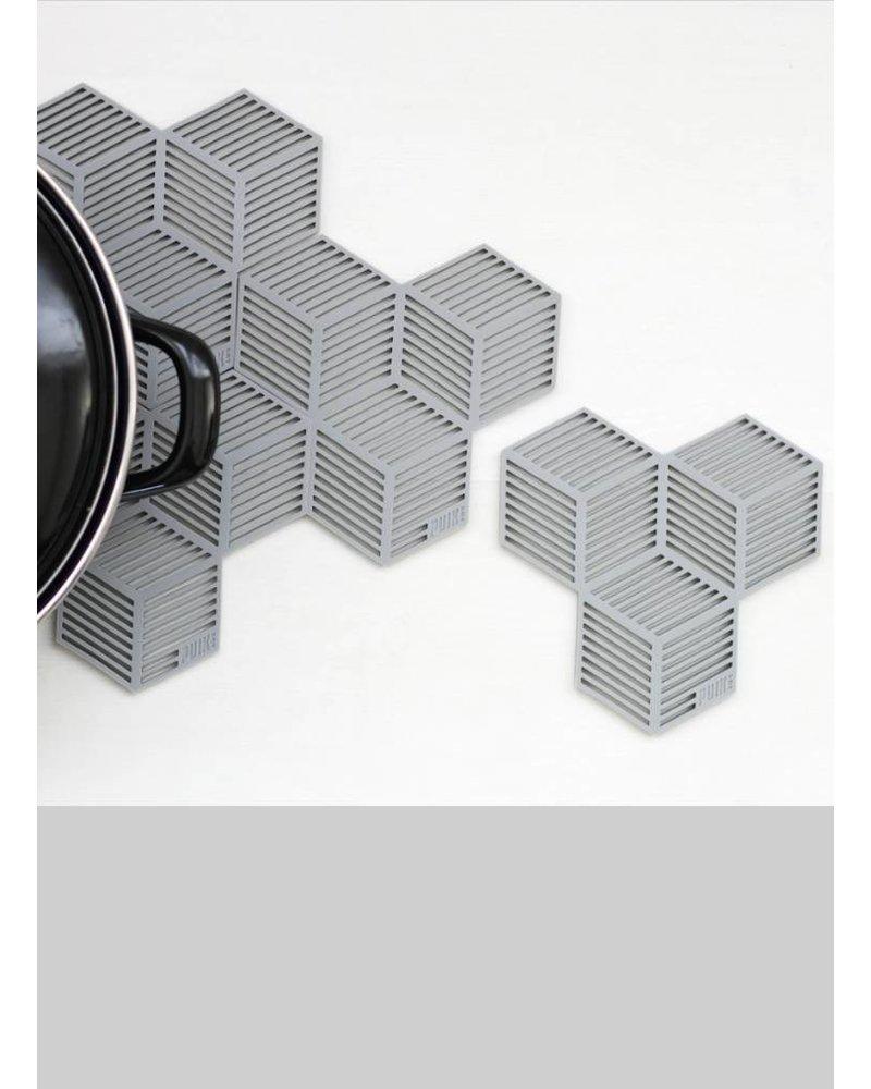 puik sico coaster set grey