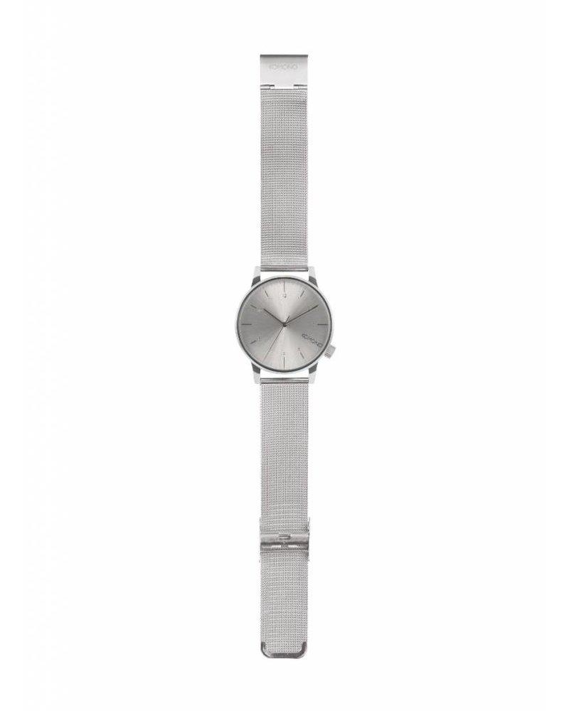 komono winston royale blacksilver watch