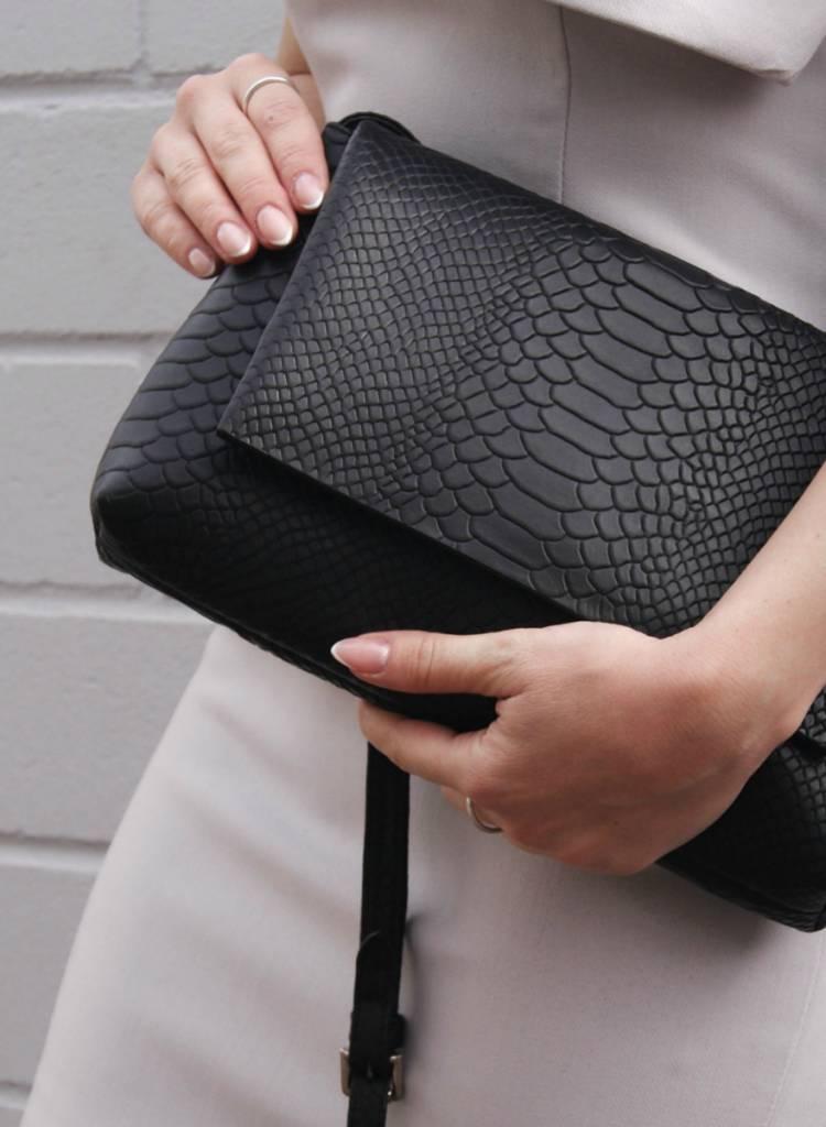 markberg pippa crossbody shoulder bag python