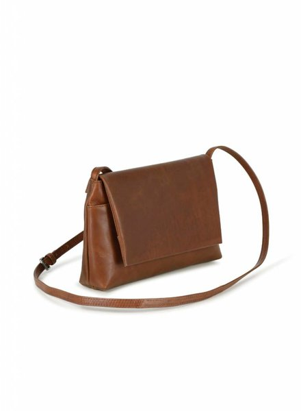 markberg pippa crossbody shoulder bag chestnut brown