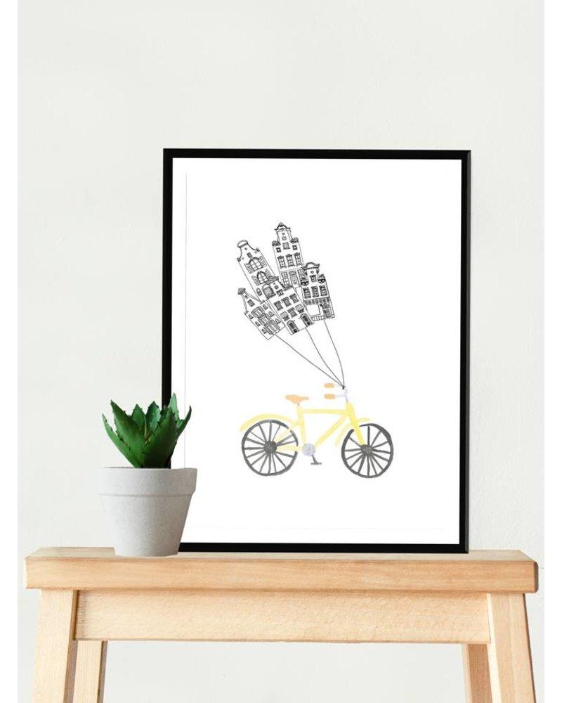 loveyouamsterdam amsterdam fiets print