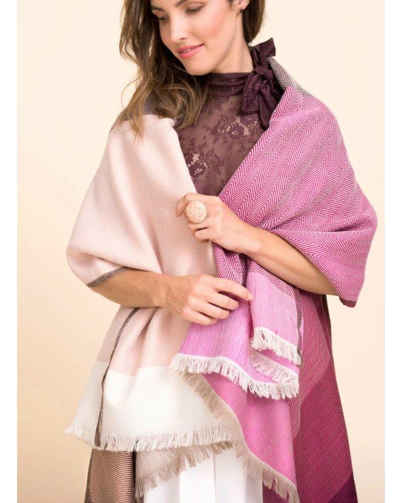 karigar pink mix cape merino