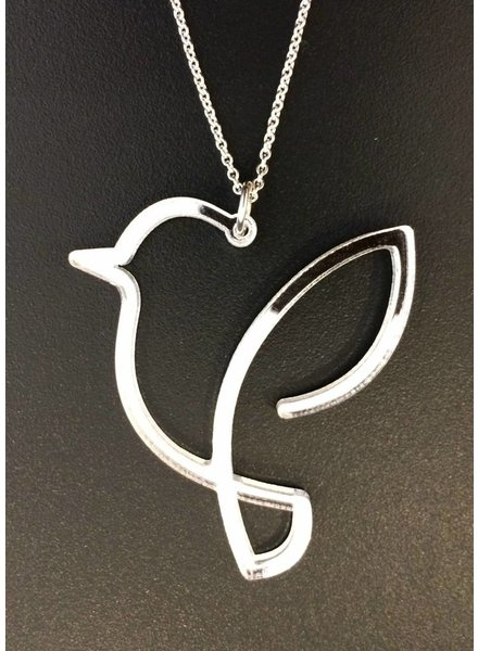 robins hood robin necklace silver