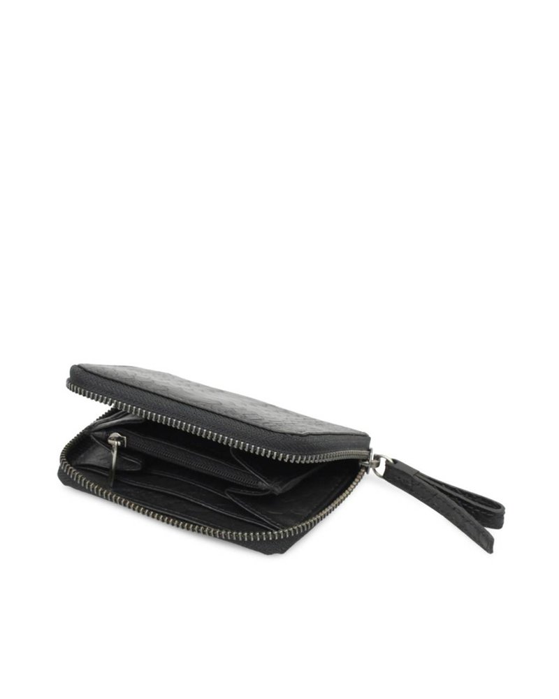 markberg compact wallet talia black python
