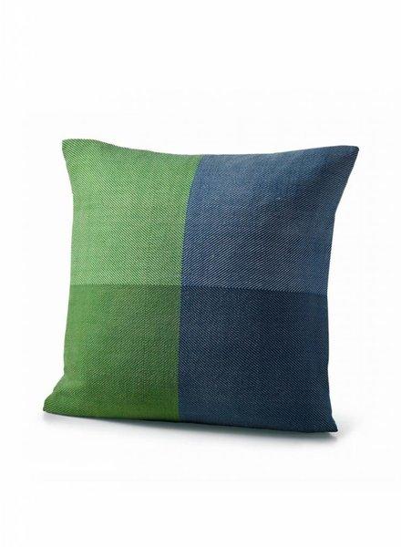 karigar cushion cover green blue mix