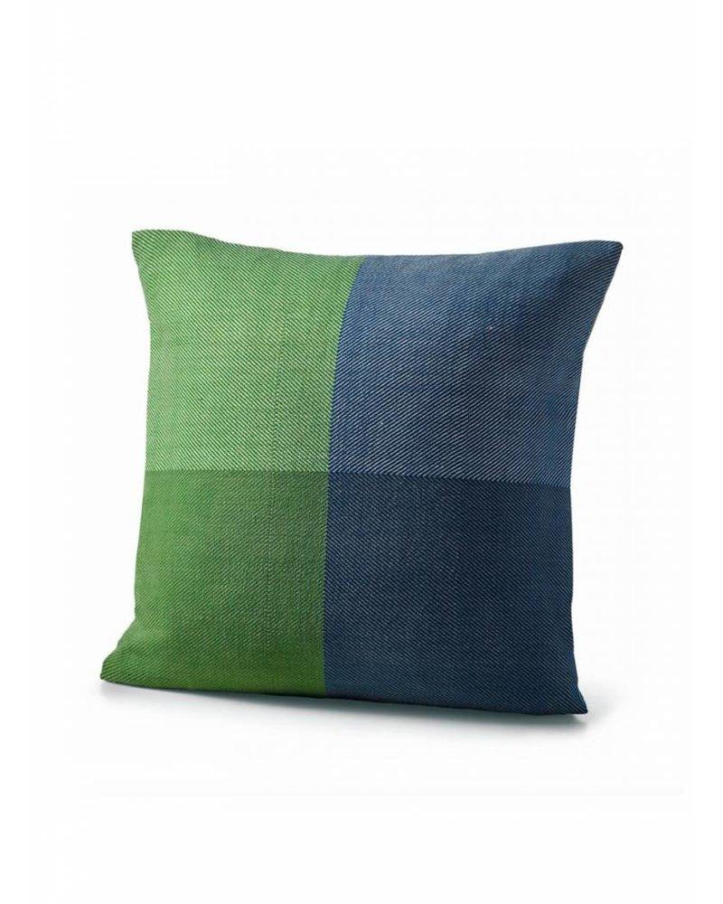 karigar kussenhoes  groen blauw mix