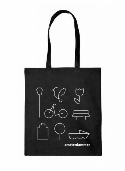 robins hood amsterdammer shopper bag black