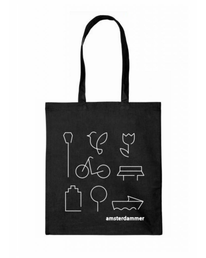 robins hood amsterdammer shopper bag black