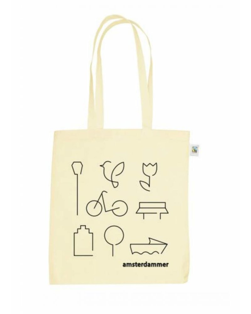 robins hood amsterdammer shopper bag off white