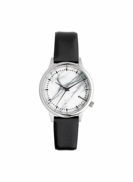 komono estelle marble black white watch