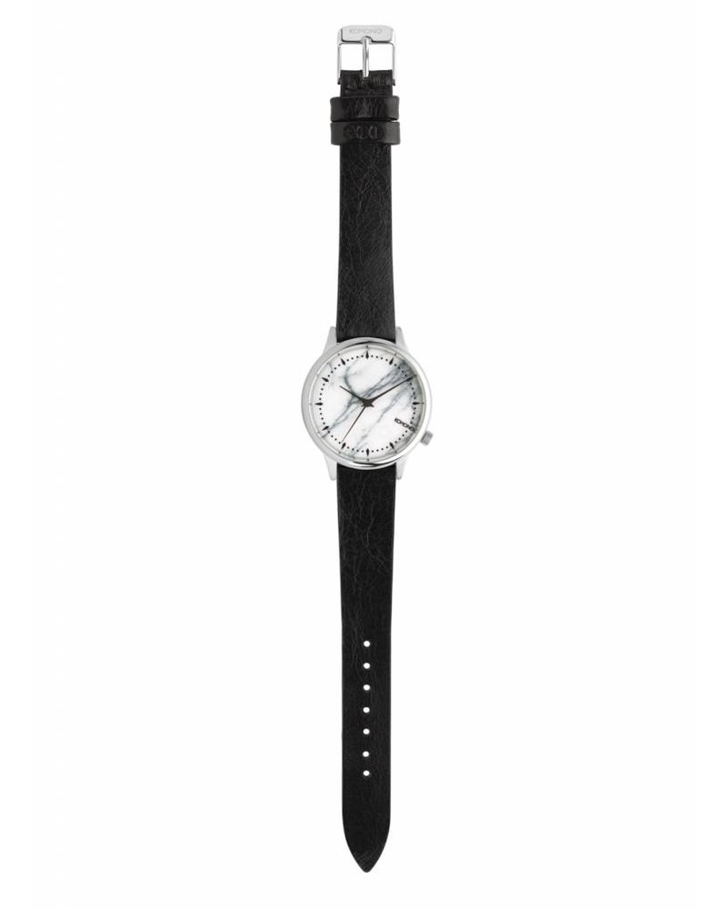 komono estelle marble black white watch