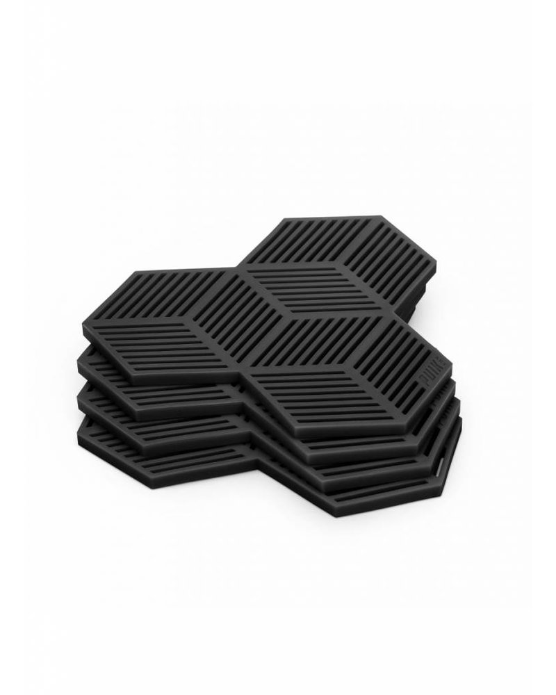 puik sico coaster set  black