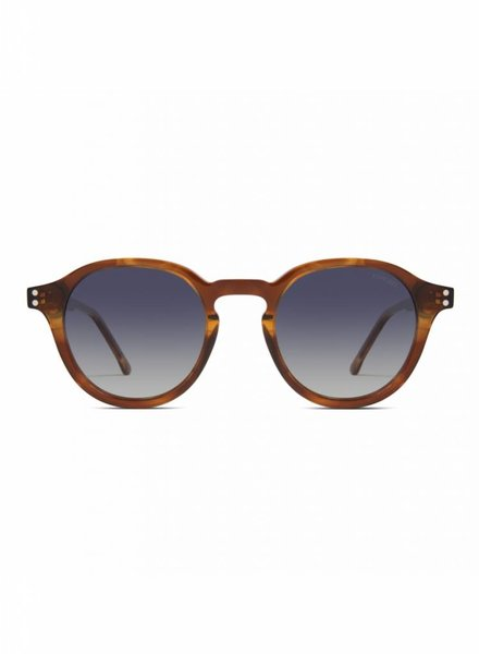 komono crafted damien sunglasses bourbon