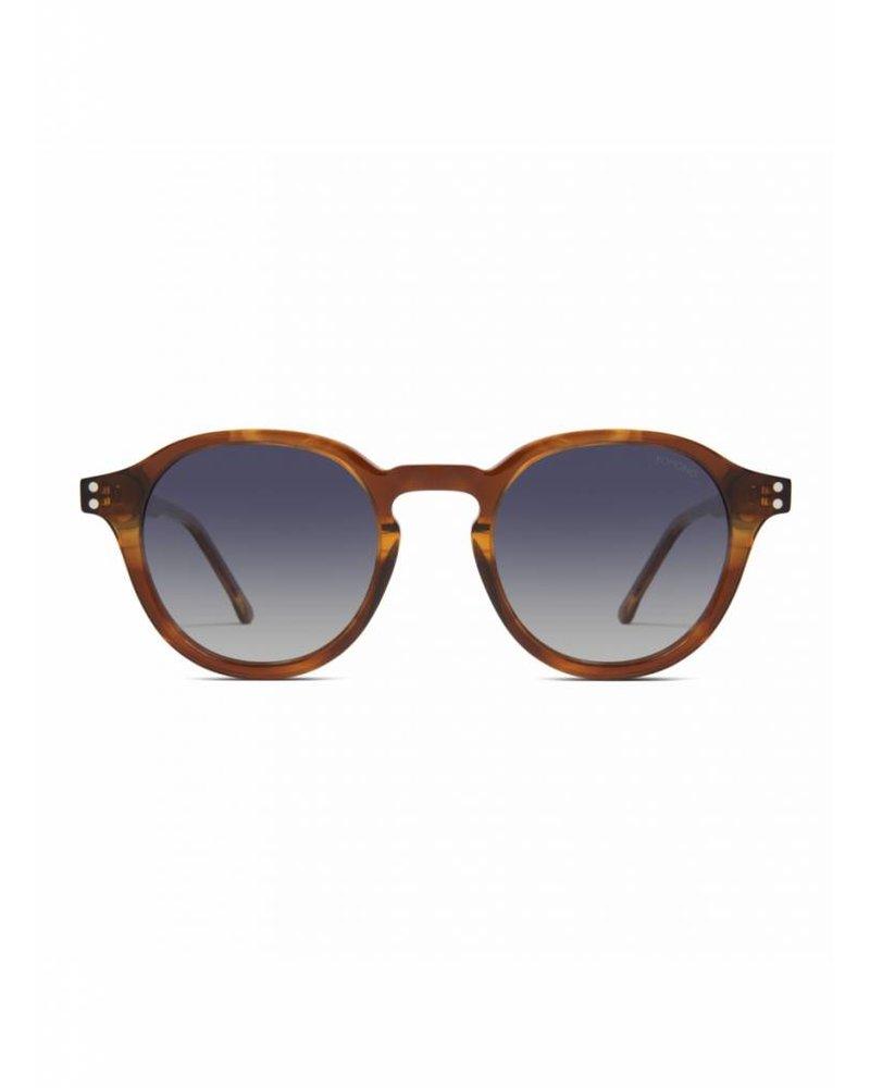 komono crafted damien sunglasses bourbon