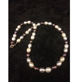 Parel tricolor Collier verkocht