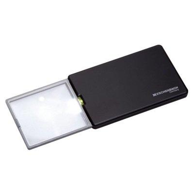 Eschenbach easyPOCKET Scheckkartenlupe mit LED-Beleuchtung für Unterwegs