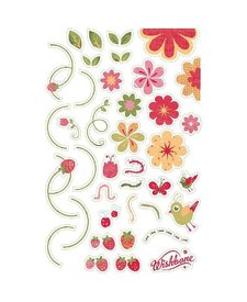 Wishbone Stickers Bloemen