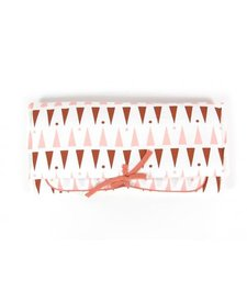 Changing Pad Pink Terracotta Triangles