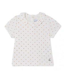 T-shirt Kraag Rosé Stippen