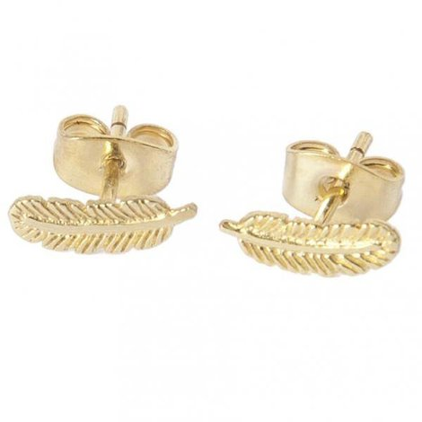 Feather Stud Goud