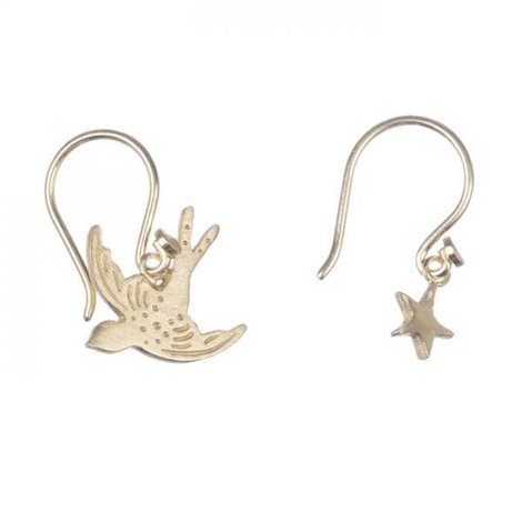 Swallow Bird Star Gold