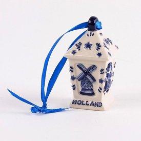 Hollandse Souvenirs Delfts blauwe kerstdecoratie - Lantaarn