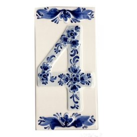 Hollandse Souvenirs Huisnummer 4 Delfts Blauw