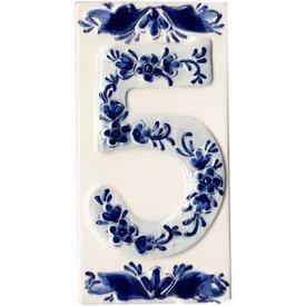 Holland Souvenirs Huisnummer 5 Delfts Blauw