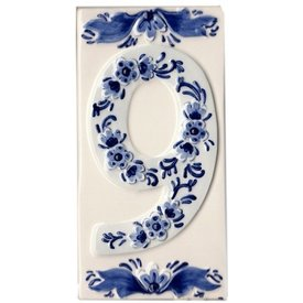 Holland Souvenirs Huisnummer 9 Delfts Blauw