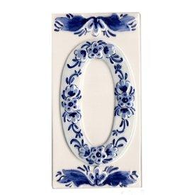 Holland Souvenirs Huisnummer 0 Delfts Blauw