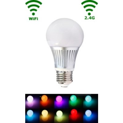 QUALEDY® LED E27 Bulb - 5W - RGB/Warm wit