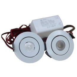 QUALEDY® LED Set van 2 Inbouwspots - 3W - Chroom