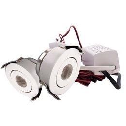QUALEDY® LED Set van 2 Inbouwspots - 3W - Wit