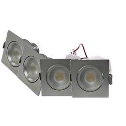 QUALEDY® LED Set 4-Inbouwspots - 4W - Chroom - Vierkant
