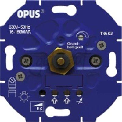 QUALEDY® Inbouwdimmer (voor led- en spaarlampen-faseafsnijding) - 15-150W/VA