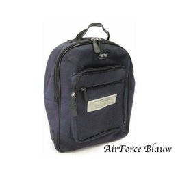 Ragbag Delhi Canvas Backpack 38 x 30 x 12 cm Airforce Blauw