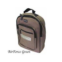 Ragbag Delhi Canvas Backpack 38 x 30 x 12 cm Airforce Green
