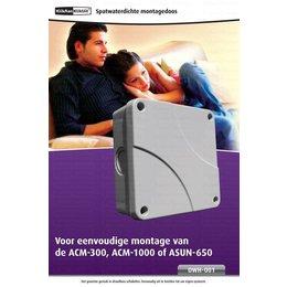 KlikAanKlikUit Waterdichte montagedoos voor ACM-300 ACM-1000 / ASUN 650